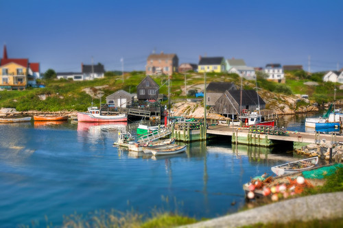 Peggy's Cove Harbour - Tilt-Shift