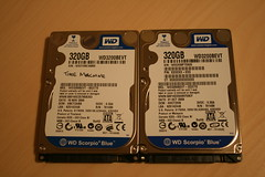 "Western Digital Scorpio Blue 320GB 2.5"" by William Hook, on Flickr"