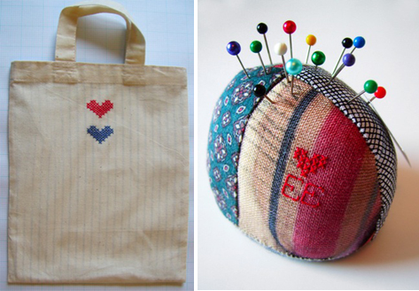 ellie evans: tote & pin cushion