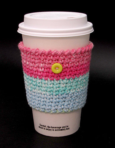Retro Crochet Coffee Cup Cozy