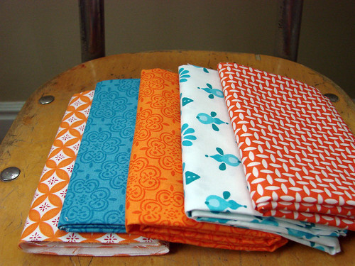 sunday stash: orange & turquoise edition