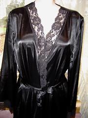 Black satin dressing gown (Ruth velasquez) Tags: dress dressing gown satin