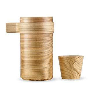 Cedar sake cups