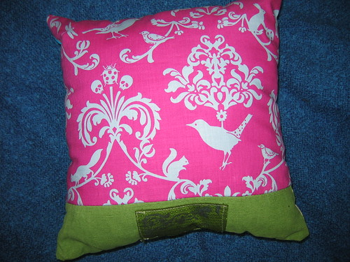 reverse of blossom & butterfly pillow