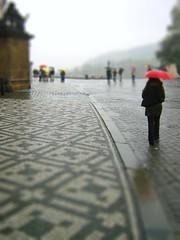 Umbrella day (Bjrn Giesenbauer) Tags: rain umbrella republic czech prague shift praha tilt hradany faketiltshift saundrah