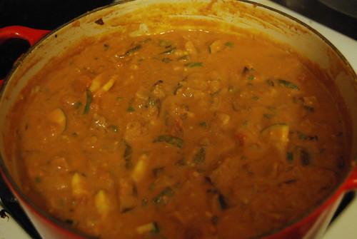 Spicy peanut stew