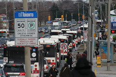 How many buses can I fit in one photo (djp3000) Tags: toronto sheppardeveeast ttc bus traffic transit publictransport publictransit canoneosdigitalrebelxt ttc1222 1222
