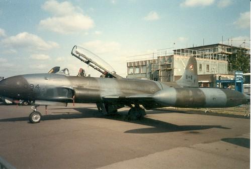 Warbird picture - Lockheed P-80 at Abingdon 90