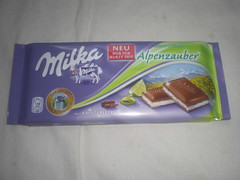 Milka Alpenwelt Alpenzauber (Like_the_Grand_Canyon) Tags: bar germany candy sweet chocolate german only limited edition schokolade choco zeit kurze für tafel nur limitiert knister limitierte soecial