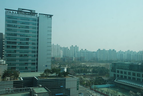 View from Our Apartment, Pyeongchon, Korea