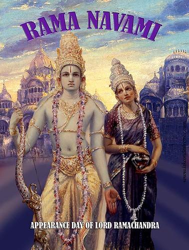 Ramanavami Poster,  ISKCON, iskcondesiretree, Hare Krishna,  Krishna, por ISKCON desire tree.