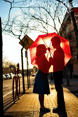 Red (artphotography1) Tags: red urban umbrella engagement laughter sihouette redumbrella 247028 d700