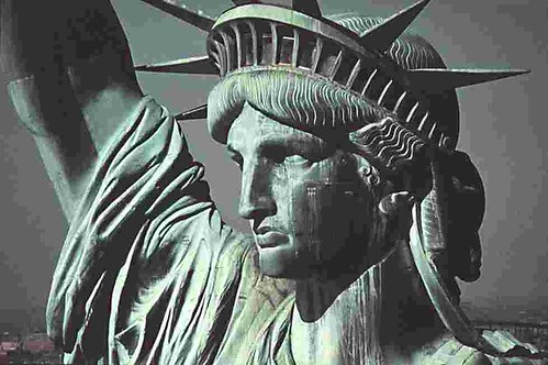Statue of Liberty Face Close Up