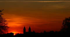 Sunset over Cathedral of Viborg/Sonedgang over Viborg Domkirke 12 (klauzito) Tags: church kirke domkirke viborg cathdral