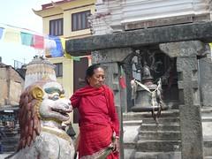Swayambhunath, Katmandu, Nepal (balavenise) Tags: nepal shrine god buddha prayer religion buddhism katmandu swayambhunath prire devnagari  flickrgiants