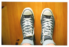 102/365 (monkeymillions) Tags: camera portrait colour film self 35mm stars day all e converse learning 102 zenit 365 chucks threesixtyfive onehundredandtwo