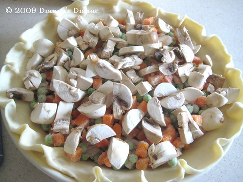 Turkey Pie: Frozen Peas, Carrots and Mushrooms
