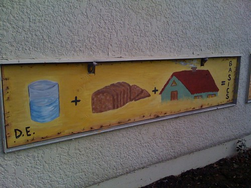 graffiti: water + bread + home = basics