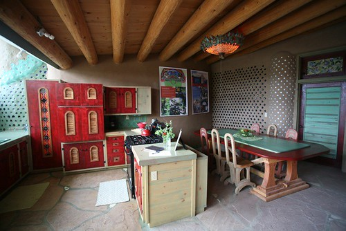 Phoenix Earthship kitchen with grape vines | Earthship Kirsten ...