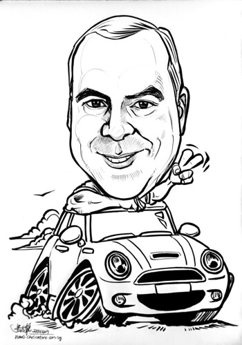 Caricature for Jones Lang Lasalle Mini Cooper revised