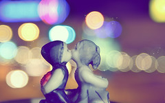 true love & bokeh :X (Denio Stef) Tags: city light detail love colors true dedication night canon lights interesting kiss couple colorful bokeh passion romantic thumbnail ever trinket heartbreaking 40d