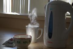 good morning (ninacoco) Tags: boy man cup soup miso tea bowl steam kettle hotpot sunbeam warmer