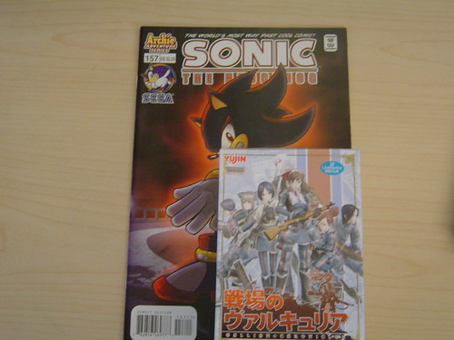 Sonic Comic and Valkyria Figurine