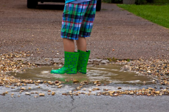 These boots were made for puddles