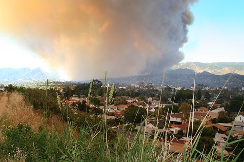 Santa Barbara with Jesusita Fire Plume