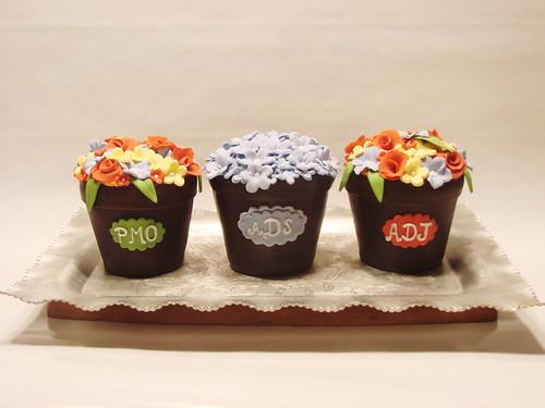 Flower pot cakelets