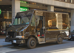 UPS Van (So Cal Metro) Tags: nyc newyorkcity brown ny newyork downtown manhattan cargo ups van courier freight unitedparcelservice parceltruck