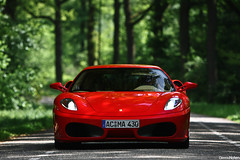 F430. (Denniske) Tags: red netherlands field canon rouge eos is dof bokeh nederland ferrari f l 28 mm nl dennis rood rosso 70200 coupe depth f28 jumbo f430 430 the noten berlinetta lseries llens veghel rt exclusief of 40d denniske