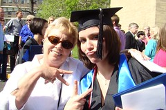 Mom Heather grad day