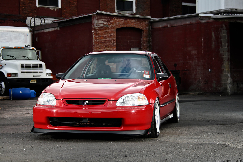 :::My 97' Roma Red Civic EK Hatchback in 2009::: - Honda ...