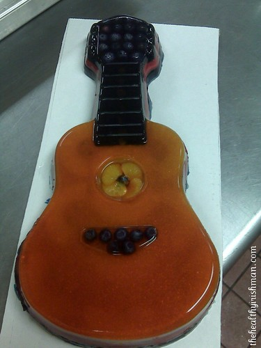 Jello Guitar Cake