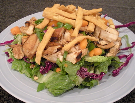low fat asian sesame chicken salad