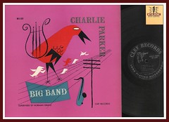 "Charlie Parker ""Charlie Parker Big Band"" Clef Records MG C-609 JAZZ Vinyl Record lp David Stone Martin Cover Art"