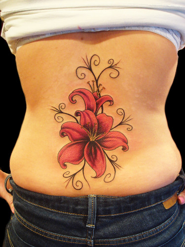 Lily Flower tattoo by Miguel Angel tattoo