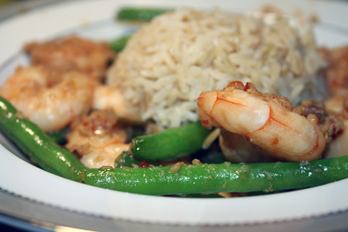 Meat-Free Friday: Spicy Shrimp with Green Beans 1