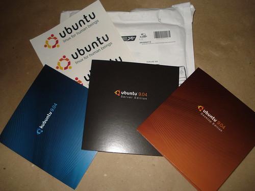 Mis discos de Ubuntu 9.04