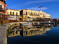 Rethymno: old harbour  reflections (Theophilos) Tags: sea reflection boats harbour greece crete rethymno oldharbour         oltusfotos