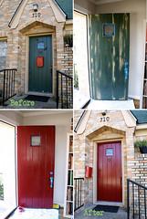 A Red Door redo (Fresh Nest) Tags: door red sanding redo