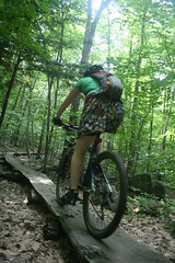 Mountain Biking Plank Bridge