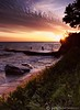 Veteran's Memorial Sunrise - Avon Lake, Ohio (tsechel) Tags: morning ohio lake water rock sunrise pier lakeerie shoreline greatlakes veteransmemorialpark avonlake canon50d alemdagqualityonlyclub 6gnd 9gnd