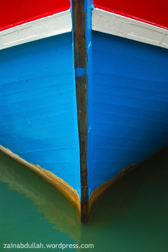 The boats bow