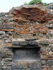 George with Roman Brickwork, Caerleon, South Wales