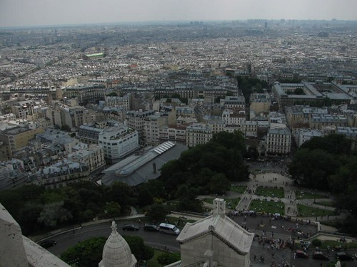 view from the dome of Sacre Cour
