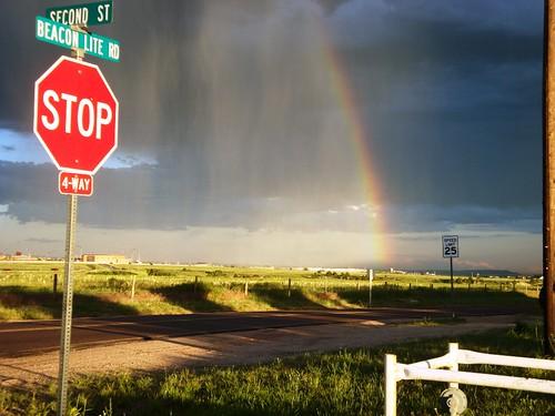 Rainbow Stop sign