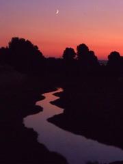 a river runs through ... (Sarah McDevitt) Tags: sunset summer oregon creek river portland evening july platinumpeaceaward