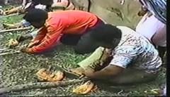 881114 Fire Starting Race (rona.h) Tags: november 1988 tonga cloudnine nukualofa ronah